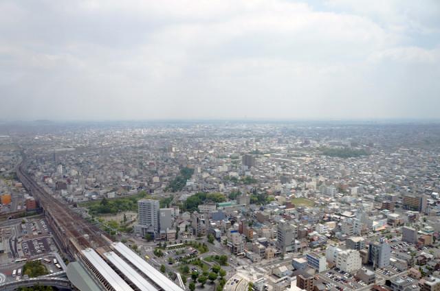 岐阜シティ・タワー43から南東を望む