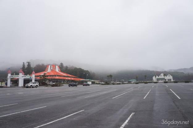 秋吉台サファリランドの駐車場