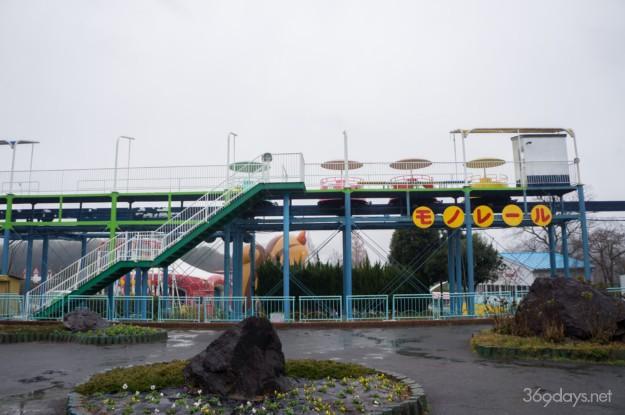 秋吉台サファリランド遊園地のモノレール