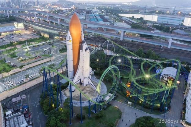 スペースワールドの観覧車「スペース・アイ」からの眺め