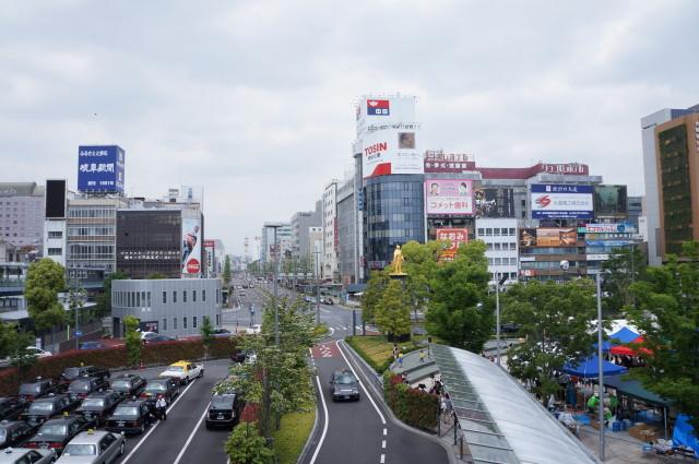 JR岐阜駅北口から