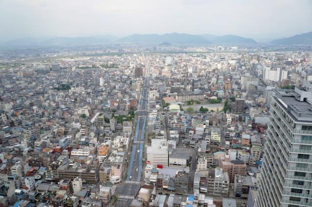 岐阜シティ・タワー43から北を望む