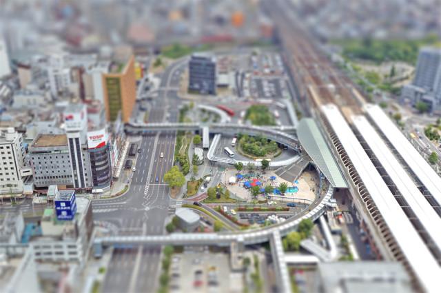 JR岐阜駅北口ミニチュア風景風
