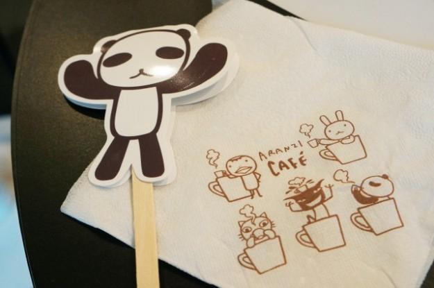 台湾 台北のARANZI Cafe 3号店のマドラーとナプキン