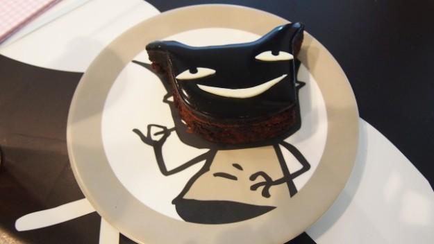 台湾 台北のARANZI Cafe 3号店のわるもののダークチョコレートケーキ