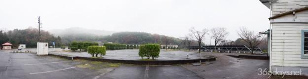 秋吉台サファリランドの巨大迷路(ランズボローメイズ)の跡?