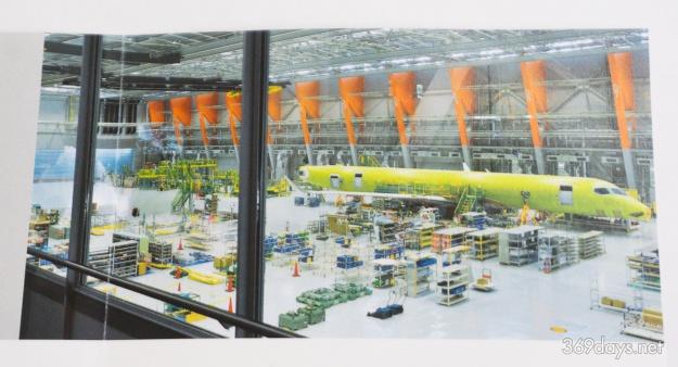 MRJ最終組立工場の様子